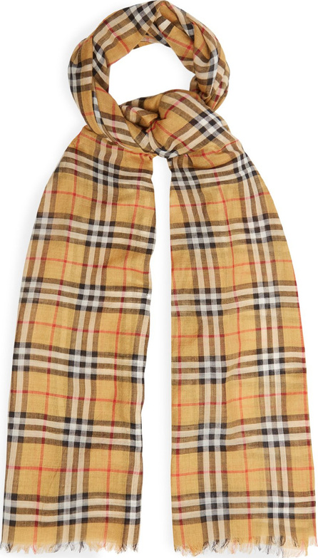 Burberry London England Vintage check wool and silk scarf