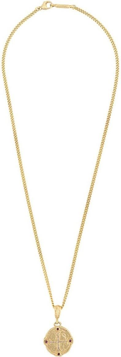 Roman Paul Engraved pendant necklace