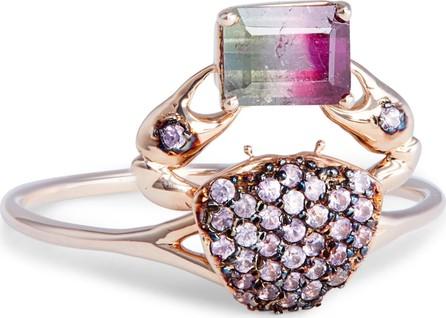 Daniela Villegas Cosquilleo Watermelon Tourmaline & Pink Sapphire Ring