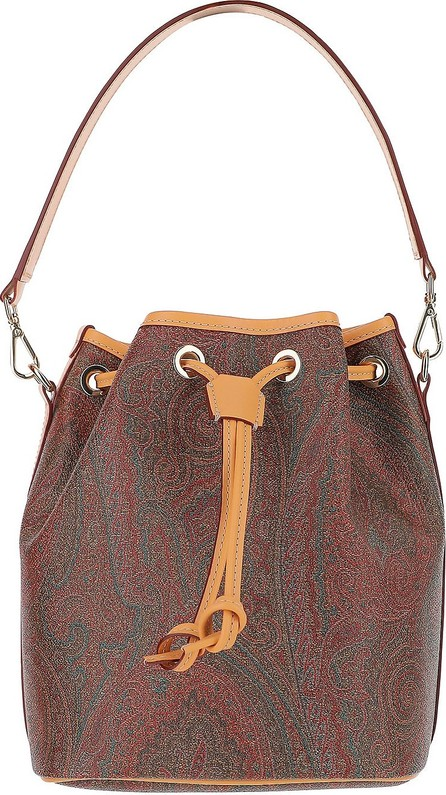 Etro Paisley Print Coated Canvas Top-Handle Bucket Bag