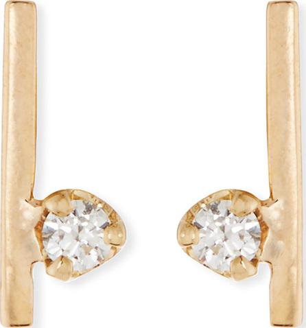 Zoe Chicco 14k Diamond Bar Stud Earrings