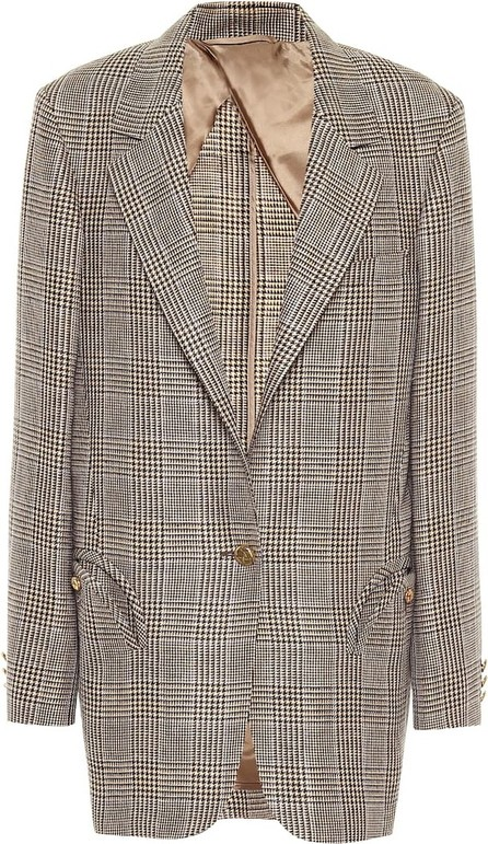 Blazé Milano Weekend checked linen and wool blazer