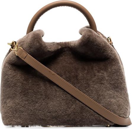 Elleme Baozi shearling tote bag