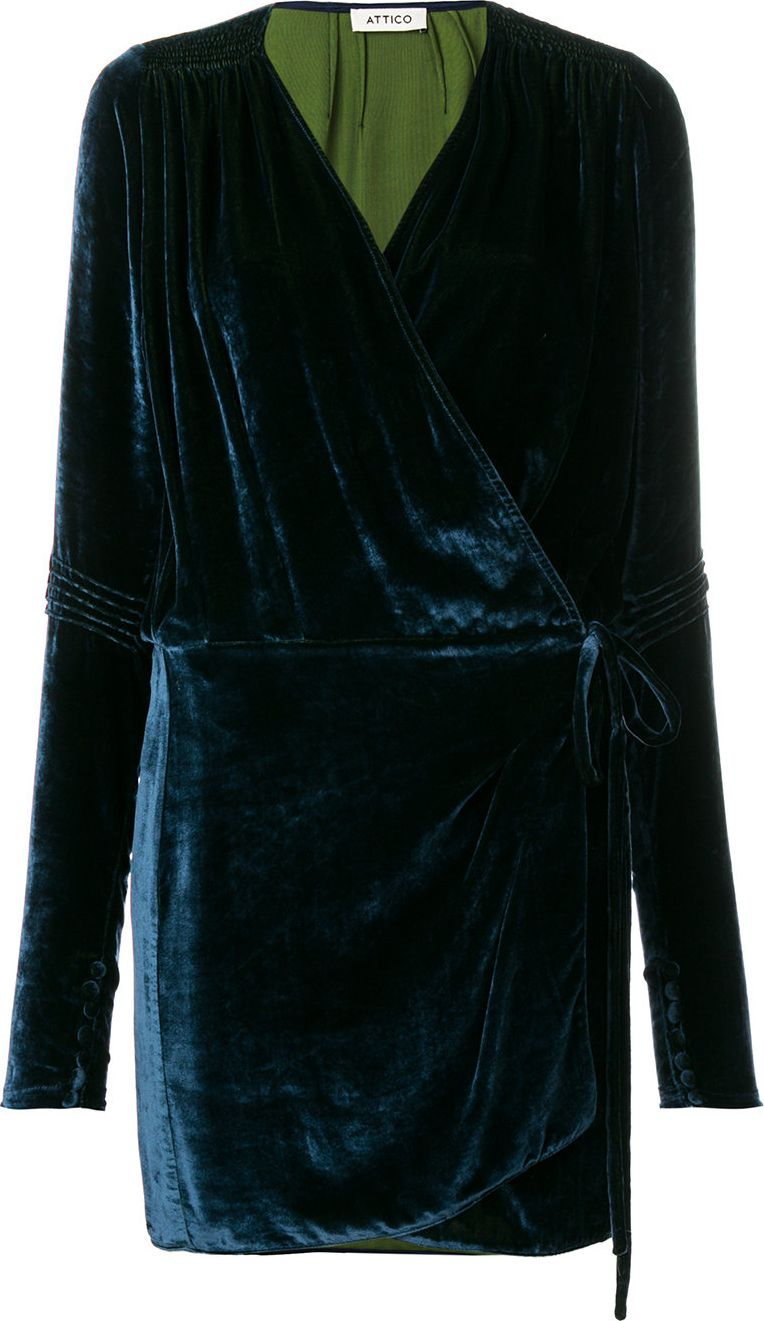 Attico - fitted wrap dress