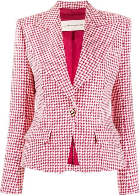 Alexandre Vauthier Houndstooth fitted blazer