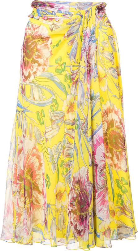 Prabal Gurung Floral flared skirt