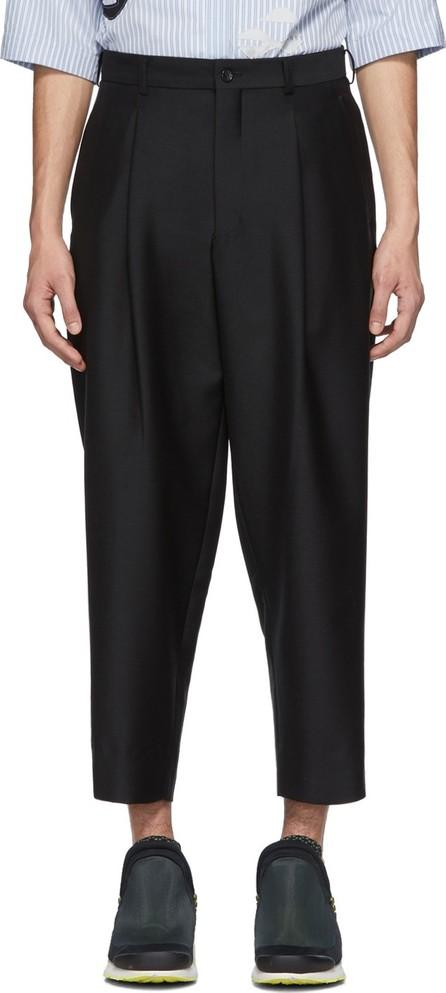 Comme Des Garçons Homme Plus Black Serge Trousers