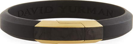David Yurman Men's Carbon & 18k Gold I.D. Bracelet