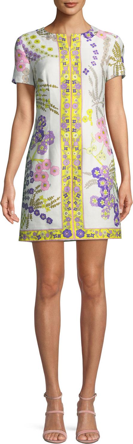 Trina Turk Arboretum Crescent Drive Ottoman Mini Dress