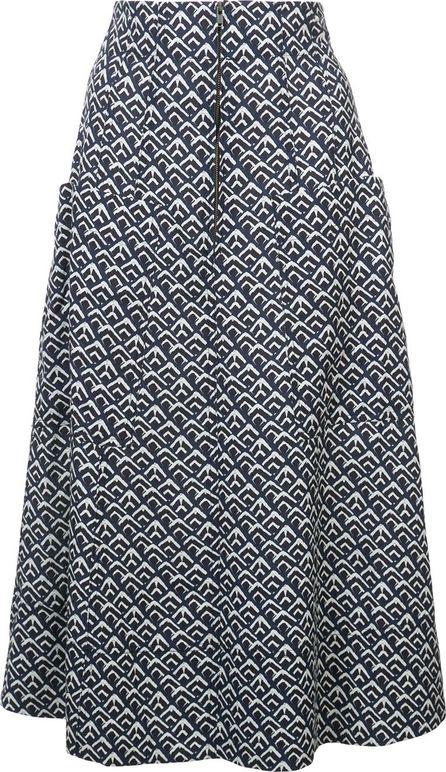 APIECE APART printed A-line skirt