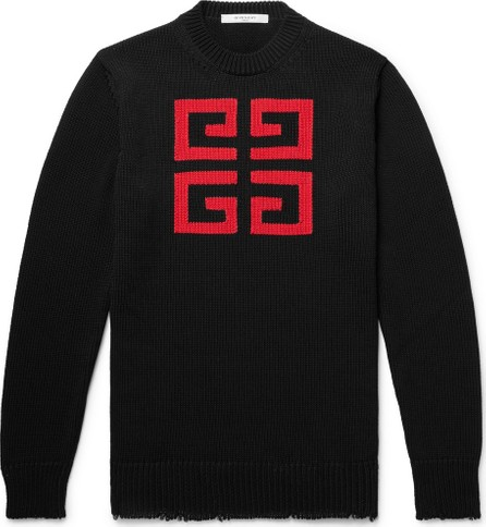 Givenchy Slim-Fit Logo-Intarsia Cotton Sweater