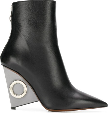 Alain Tondowski Metallic wedge boots