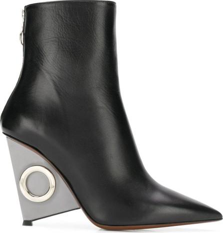 Alain Tondowski Metallic wedge boots