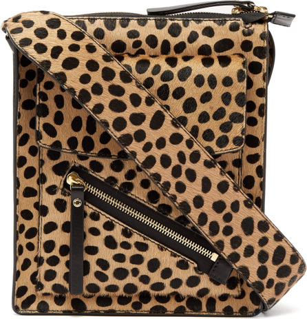 Joseph Mortimer leopard-print calf-hair shoulder bag