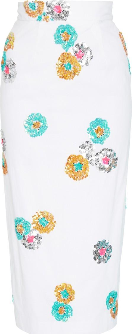 Alcoolique Araka Embellished Cotton Midi Skirt