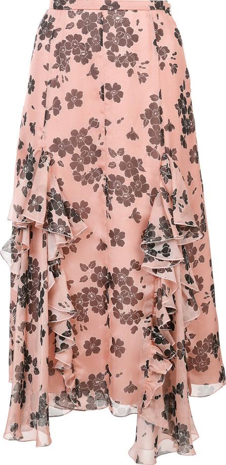 ROCHAS Floral print ruffle skirt