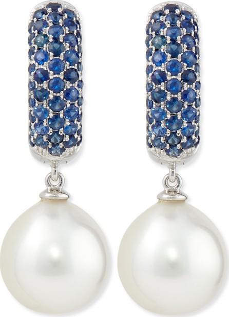 Belpearl Aura Tanzanite & White Pearl Earrings