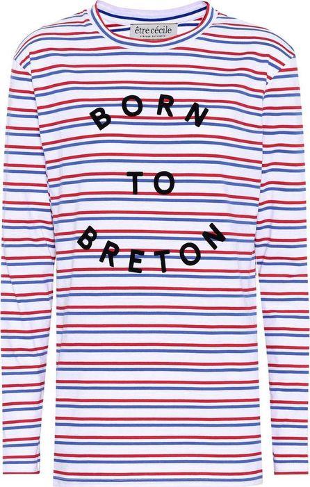 Etre Cecile Striped cotton sweatshirt