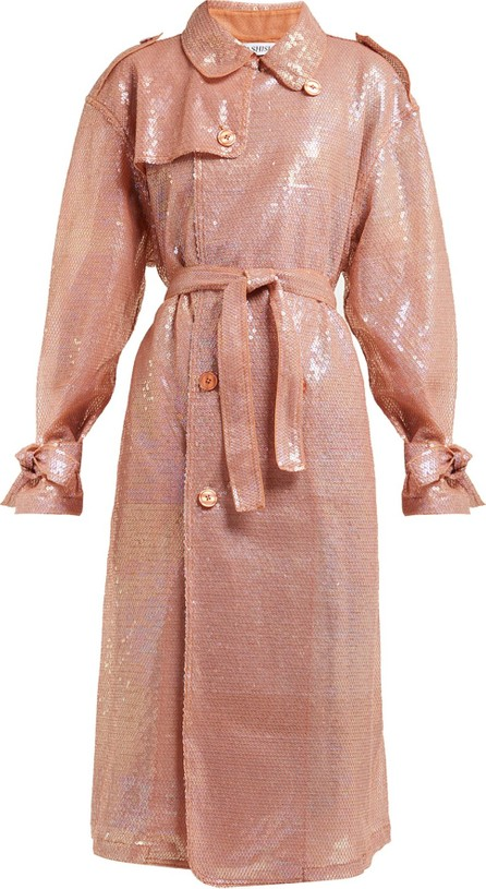 ASHISH Sequinned double-breasted trench coat