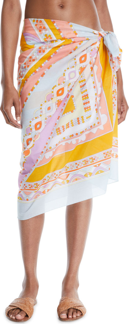 Emilio Pucci Postcards Printed Cotton Pareo Coverup