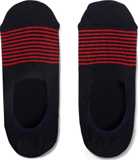Pantherella Striped Stretch Cotton-Blend No-Show Socks