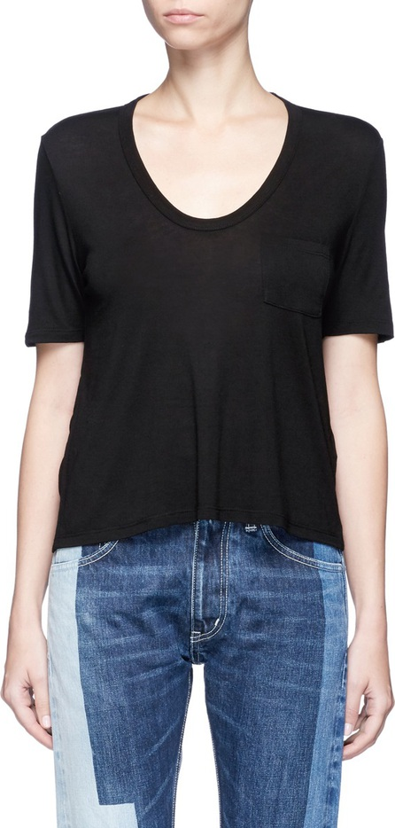 T By Alexander Wang Patch pocket scoop neck T-shirt