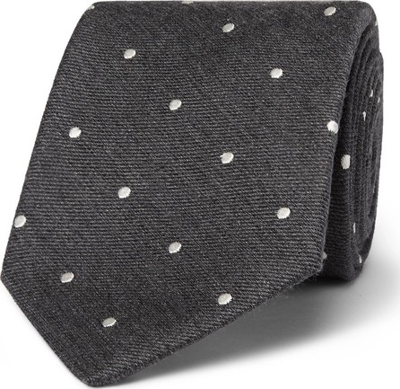 Paul Smith 8cm Polka-Dot Silk and Wool-Blend Tie
