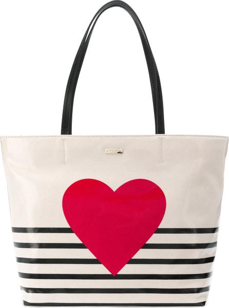 Kate Spade New York Heart stripe tote