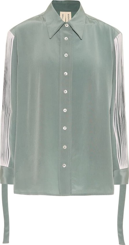 Bodice Studio Pleated silk shirt