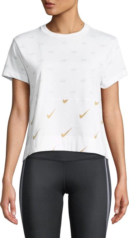 Nike Metallic Logo-Print T-Shirt