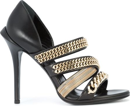 Roberto Cavalli gold-chain strappy sandals