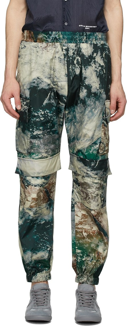 Stella McCartney Multicolor Earth Satellite Print Taylor Cargo Pants