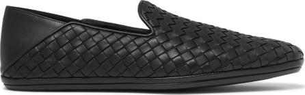 Bottega Veneta Intrecciato Leather Collapsible-Heel Slippers