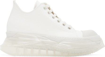 Rick Owens DRKSHDW White Abstract Sneakers