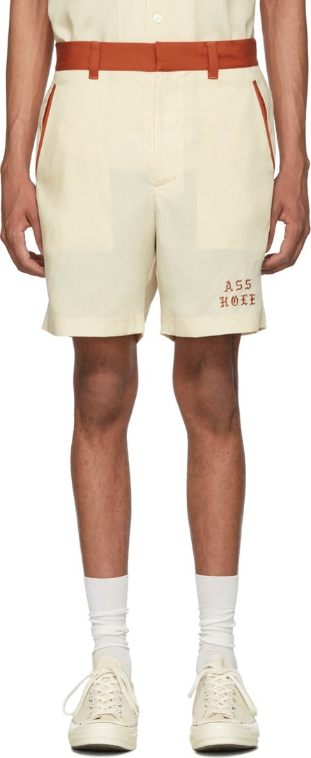 Wacko Maria Off-White Two-Tone 'Asshole' 50's Shorts