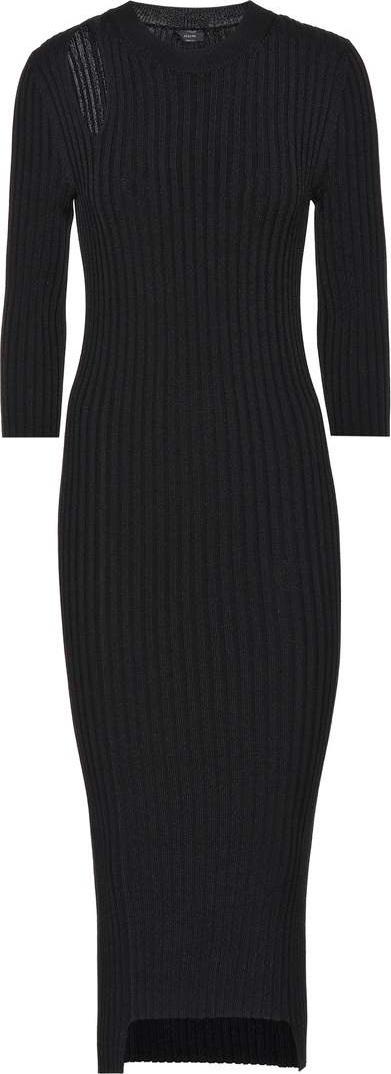 Joseph Cotton-blend ribbed knit midi dress