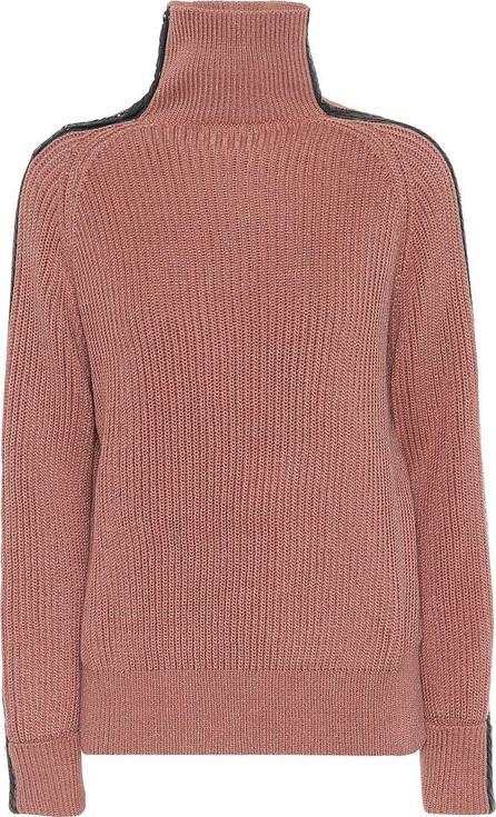 Bottega Veneta Leather-trimmed cotton sweater