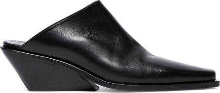 Ann Demeulemeester Black Wedge 50 Leather Mules