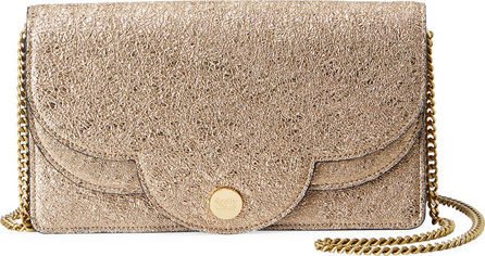 See By Chloé Polina Crackled Crossbody Wallet On A Chain, Metallic
