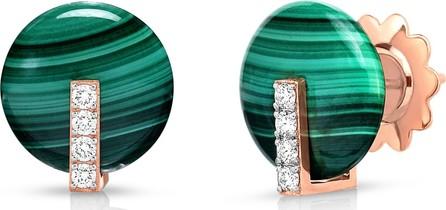 Roberto Coin Mini Malachite & Diamond Earrings