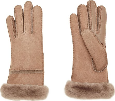 UGG Tech Leather Gloves with Shearling