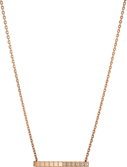 Chopard Ice Cube Diamond Bar Necklace in 18K Rose Gold