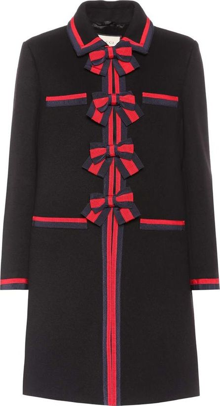 Gucci Grosgrain-trimmed wool coat