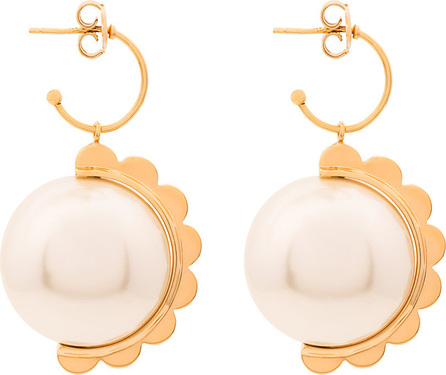 Simone Rocha Pearl scalloped earrings