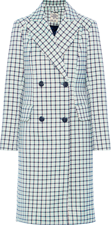 Baum und Pferdgarten Double-breasted checked twill coat