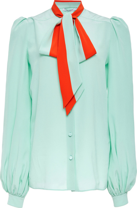 Givenchy Silk Crepe De Chine Shirt With Lavaliere Collar