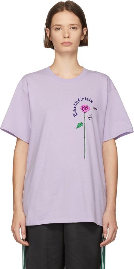 Noah NYC Purple 'Earth Crisis' T-Shirt