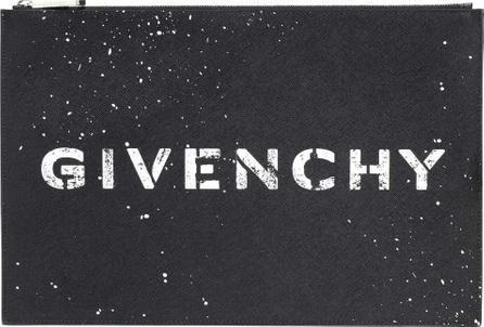 Givenchy Logo jacquard clutch