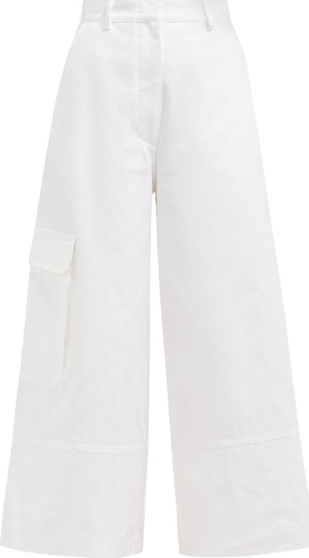 2 Moncler 1952 Wide-leg cotton cargo trousers