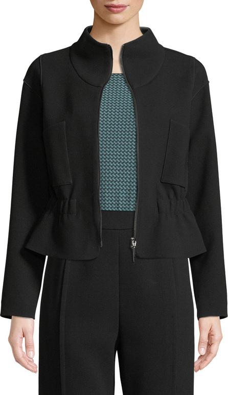 Emporio Armani Zip-Front Crepe Sport Jacket